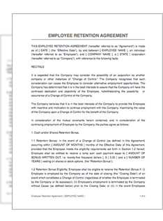 Employee retention agreement restart pro employeeret platinumwayz